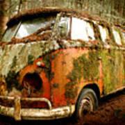 Moss Covered 23 Window Bus Poster by Michael David Sorensen