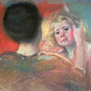 Mother Combing Sara's Hair  Poster by Mary Stevenson Cassatt