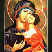 Mother Of God Antiochian Orthodox Icon Poster by Patrick Kelly