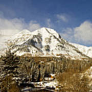 Mount Timpanogos Poster by Scott Pellegrin