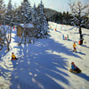 Mountain Hut Poster by Andrew Macara