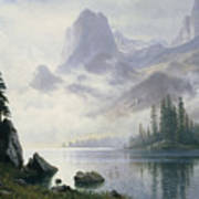 Mountain Out Of The Mist Poster by Albert Bierstadt
