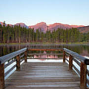 Mountains Behind Sprague Lake Poster by Lightvision, LLC