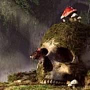 Mouse In A Skull Poster by Daniel Eskridge