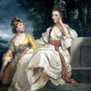 Mrs Thrale And Her Daughter Hester Poster by Sir Joshua Reynolds