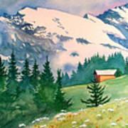 Murren Switzerland Poster by Scott Nelson