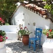 My Greek Garden Poster by Yvonne Ayoub