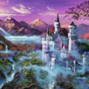 Mystery Castle Poster by David Lloyd Glover