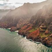 Na Pali Coast 4 - Kauai Hawaii Poster by Brian Harig