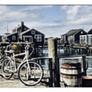 Nantucket Bikes 1 Poster by Tammy Wetzel