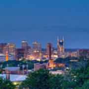 Nashville By Night 1 Poster by Douglas Barnett