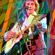 Neil Diamond Hot August Night Poster by David Lloyd Glover