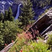 Nevada Falls Yosemite National Park Poster by Alan Lenk