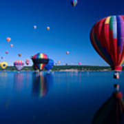 New Mexico Hot Air Balloons Poster by Jerry McElroy
