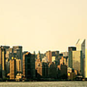 New York City Skyline Panorama Poster by Vivienne Gucwa