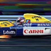 Nigel Mansell Williams Fw14b Poster by David Kyte