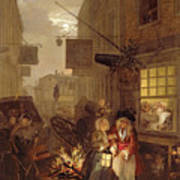 Night Poster by William Hogarth