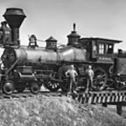 No. 120 Early Railroad Locomotive Poster by Daniel Hagerman
