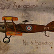 No. 6 Squadron Bristol Aeroplane Company Poster by Cinema Photography