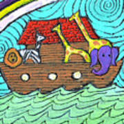 Noahs Ark Two Poster by Wayne Potrafka