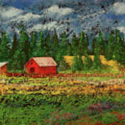 North Idaho Farm Poster by David Patterson