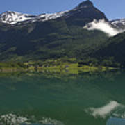 Norway, Briksdal Glacier At Jostedal Poster by Keenpress