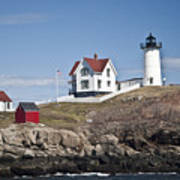 Nubble Lighthouse Poster by Thomas  Jarvais