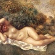 Nude Poster by Pierre Auguste Renoir