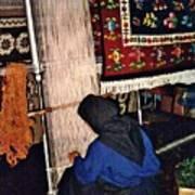 Nun Knotting Carpet Poster by Sarah Loft
