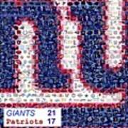 Ny Giants Super Bowl Mosaic Poster by Paul Van Scott