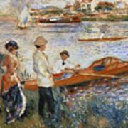 Oarsmen At Chatou Poster by Pierre Auguste Renoir