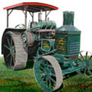 Oil Pull Tractor Poster by Ferrel Cordle