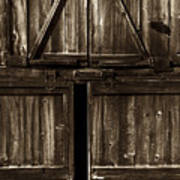 Old Barn Door - Toned Poster by Paul W Faust -  Impressions of Light