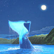 Orca Fluke Poster by Jeffrey Oldham