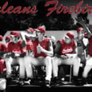 Orleans Firebirds Baseball Team Poster by Dapixara Art