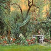 Our Little Garden Poster by Guido Borelli