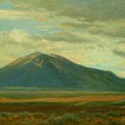Outside Of Taos Poster by Phyllis Tarlow