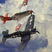 Over The Clouds 2 Pastel Poster by Stefan Kuhn