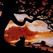 Overlooking Tara At Sunset Poster by Al  Molina