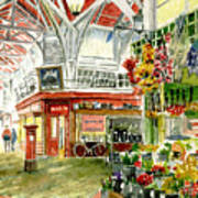 Oxford's Covered Market Poster by Mike Lester