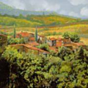 Paesaggio Toscano Poster by Guido Borelli