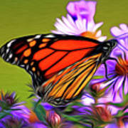 Painted Butterfly Poster by David Kehrli