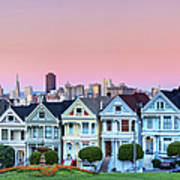 Painted Ladies At Dusk Poster by Photo by Jim Boud