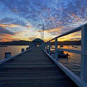 Palm Beach Wharf At Dusk Poster by Avalon Fine Art Photography