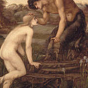 Pan And Psyche Poster by Sir Edward Burne-Jones