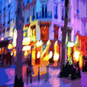 Paris Quartier Latin 02 Poster by Yuriy  Shevchuk