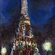Paris Tour Eiffel Poster by Yuriy  Shevchuk