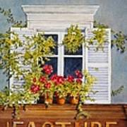Parisian Window Poster by Mary Ellen  Mueller Legault