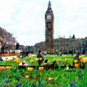 Parliament Square London Poster by Kurt Van Wagner