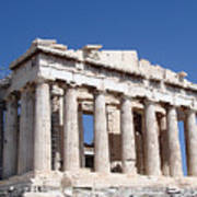 Parthenon Front Facade Poster by Jane Rix